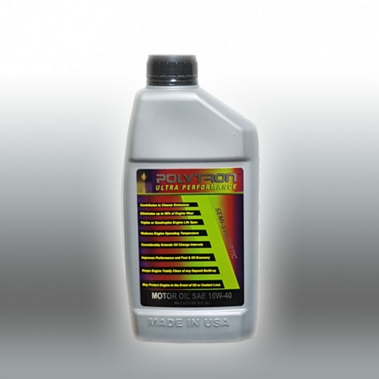 POLYTRON Semi Synthetic Motor Oil SAE 10W40 - Oil Change Interval 25.000 km