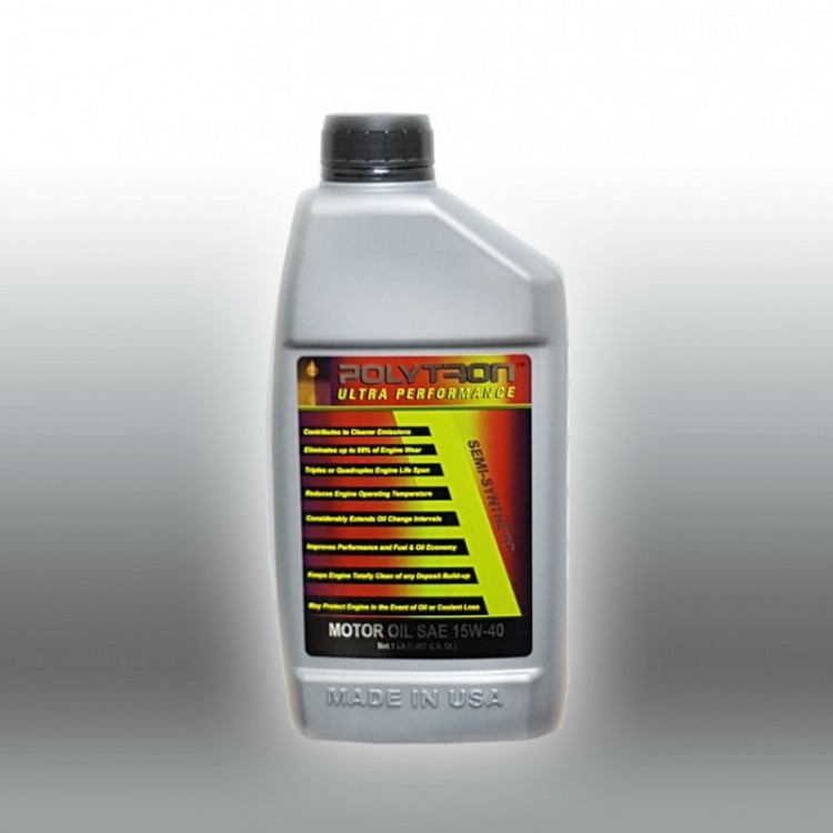 POLYTRON Semi Synthetic Motor Oil SAE 15W40 - Oil Change Interval 25.000 km