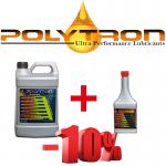 POLYTRON Full Synthetic Motor Oil SAE 5W30 - 8 Liter + Free Gift POLYTRON GDFC - Gasoline-Diesel Fuel Conditioner - 0,355 Liter