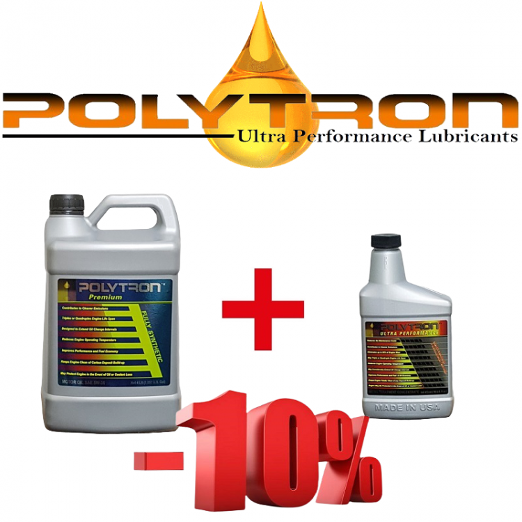 POLYTRON Full Synthetic Motor Oil SAE 5W30 - 8 Liter + Free Gift POLYTRON MTC metal treatment concentrate (Oil Additive) - 0,473 Liter