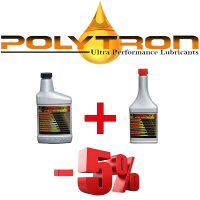 Promo 25 - POLYTRON MTC metal treatment concentrate (Oil Additive) 473ml. + POLYTRON GDFC - Gasoline-Diesel Fuel Conditioner 355ml. (1+1)