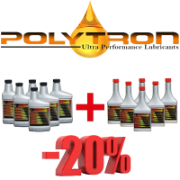 Promo 28 - POLYTRON MTC metal treatment concentrate (Oil Additive) 6x473ml. + POLYTRON GDFC - Gasoline-Diesel Fuel Conditioner 6x355ml.