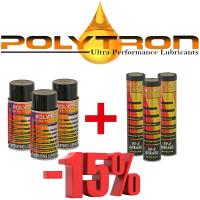 Promo 49 - POLYTRON PL - Penetrating Lubricant - 3x200ml. + POLYTRON EP-2 - Lithium Grease (+385°C / -50°C) - 3x0,4kg.