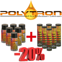 Promo 50 - POLYTRON PL - Penetrating Lubricant - 6x200ml. + POLYTRON EP-2 - Lithium Grease (+385°C / -50°C) - 6x0,4kg.